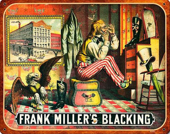 Frank Miller 's Blacking Shoe Polish Metal Sign