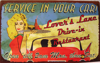 Service In Your Car Lover's Lane Drive-In Restaurant
