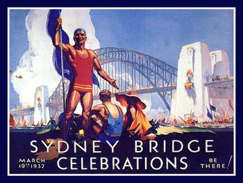 Sydney Bridge Metal Sign