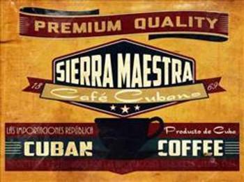 Sierra Majestra-Cuban Coffee Metal Sign