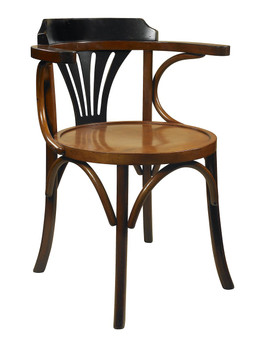 Navy Black and Honey Desk Chair
