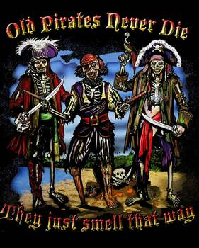 Old Pirates Never Die Metal Sign