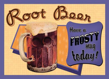 Root Beer Metal Sign