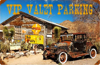 VIP Valet Parking Vintage Metal Sign