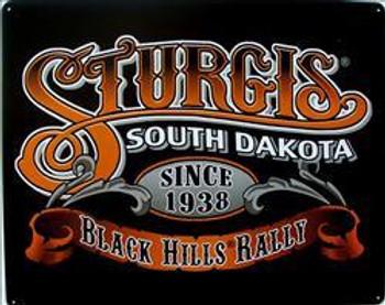 Sturgis- South Dakota Embossed Metal Sign