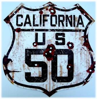 US Route California 50 Metal Shield