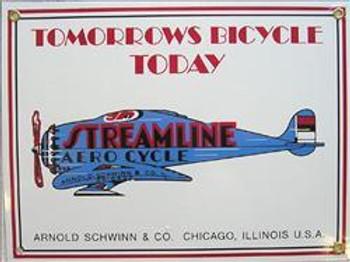Streamline Aero Cycle Porcelain Sign
