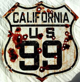 US Route 99 California Rustic
