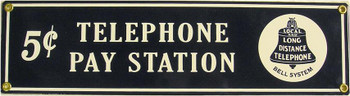 Telephone Pay Station Porcelain Sign