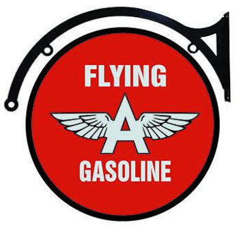 "Flying A Gasoline 22"" Disc Hanging"