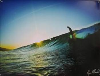 Surf Sunset Session Metal Sign