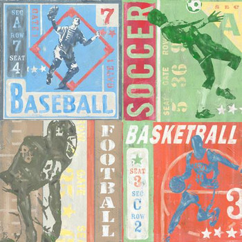 Sport Collage Metal Sign