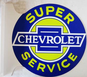 """Super CHEVROLET Service  Flange Sign 12"""""""