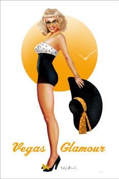 Vegas Glamour Pin-Up Metal Sign