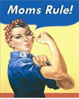 Mom's Rule Metal Sign