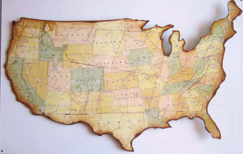 Vintage Map of the USA