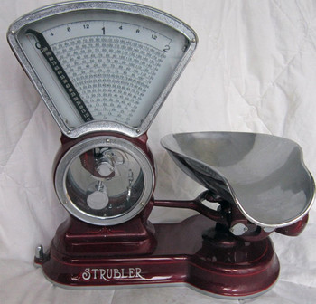 Strubler Two Pound Candy Scale circa 1930's