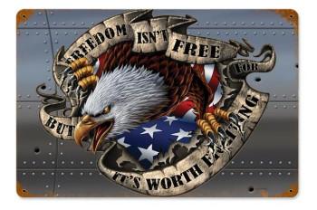 Freedom Isn't Free Vintage Metal Sign
