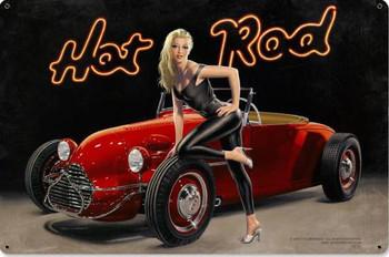 Hot Rod / Pin-Up Metal Sign