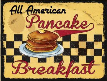 Pancake Breakfast Metal Sign