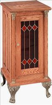 Slot Stand - Deluxe Stand w/ Red Leaded Glass
