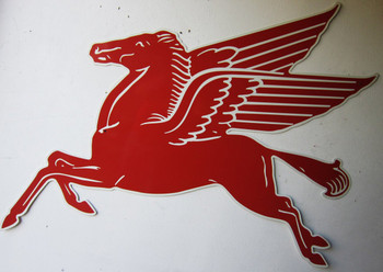 "Mobil Pegasus Horse Sign Gas Station 72"" by 58"""
