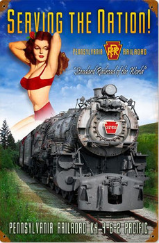 Pennsylvannia Railroad Pin-Up Metal Sign