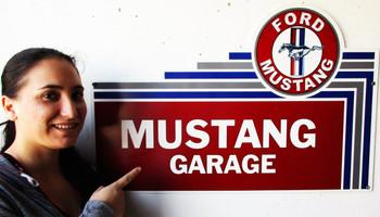 """Mustang Garage 32"""" Plasma Cut Metal Sign"""