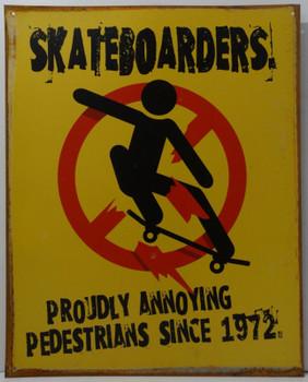 Skateboarders Metal Sign
