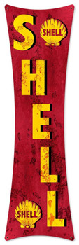 "Shell Letters Grunge Bowtie Metal sign 27"" by 8"""