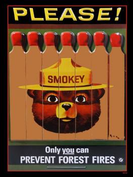 Smokey the Bear Metal Sign
