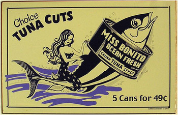 Tuna Cuts Metal Sign