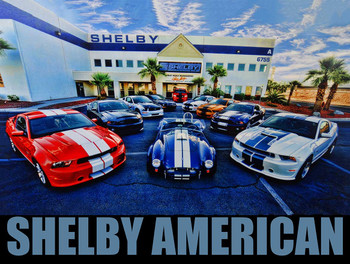 Shelby America Family Metal Sign