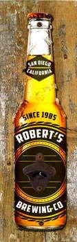 Beer Opener On Wood Personalized