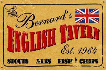 Old English Tavern Personalized Custom Metal Shape