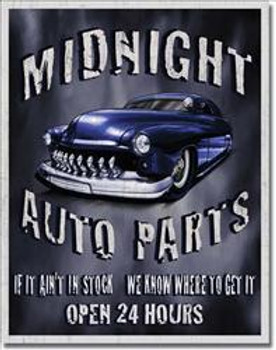 Midnight Auto Parts DISC Metal Sign