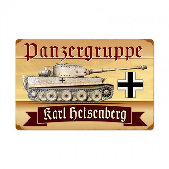 Panzer Gruppen Vintage Metal Sign Personalized