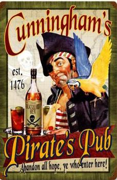 Pirates Pub Vintage Metal Sign Personalized