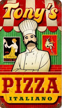 Pizza Vintage Metal Sign Personalized