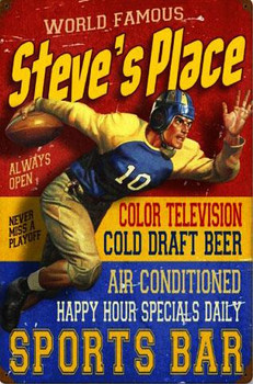 Sports Bar Vintage Metal Sign Personalized