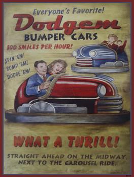 Dodgem Bumper Cars Metal Sign