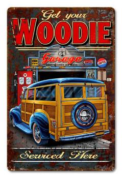 Woodie Garage Metal Sign