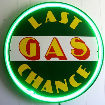 Last Chance Gas (green neon)