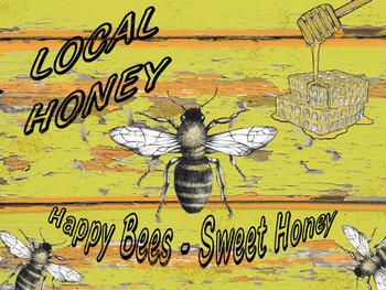Local Honey Metal Sign