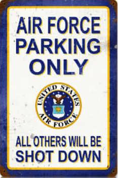 Air Force Parking Only Metal Sign