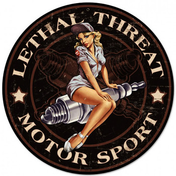 "Lethal Threat Motor Sport Spark Plug 14"" Round"