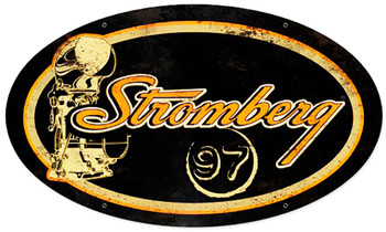 """Stromber Oval Metal Sign 24"""" by 14"""""""
