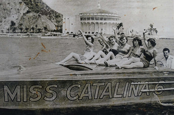 Miss Catalina Vintage Photo Metal Sign