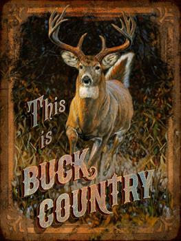 Buck Country Metal Sign