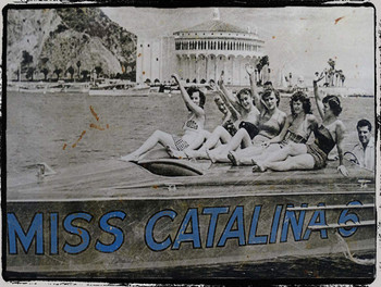 Miss Catalina Vintage Photograph Metal Sign